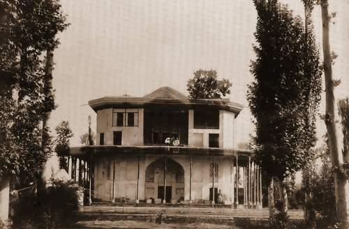 ققنوس - قدیمترین تصویر عمارت کلاه فرنگی قزوین